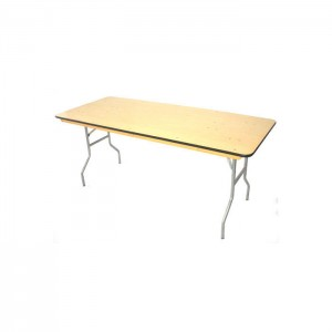 Wood folding table